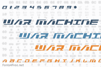War Machine Font