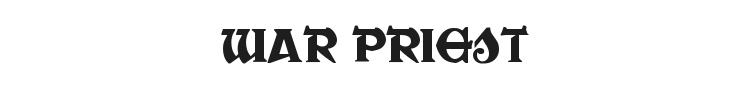 War Priest Font Preview