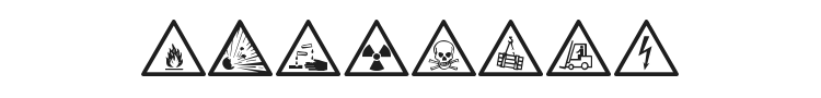 Warning Tables Font