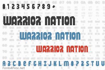 Warrior Nation Font