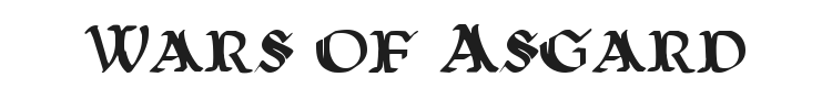 Wars of Asgard Font Preview