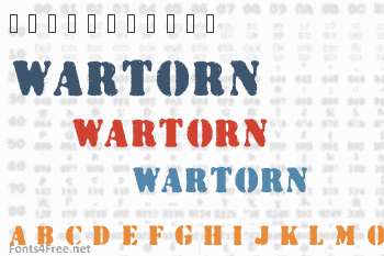 Wartorn Font