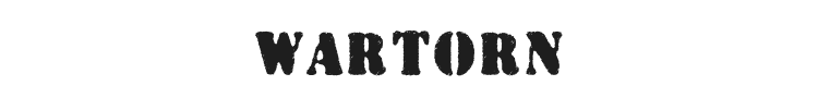 Wartorn Font Preview