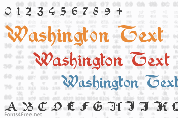Washington Text Font