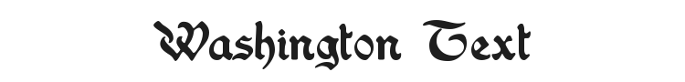 Washington Text Font Preview