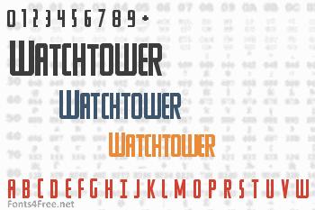Watchtower Font