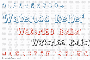 Waterloo Relief Font