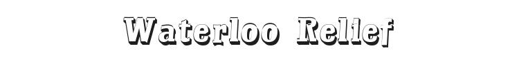 Waterloo Relief Font Preview