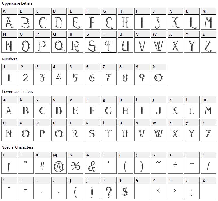 Watson Font Character Map