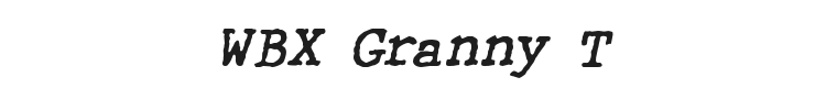 WBX Granny T Font Preview
