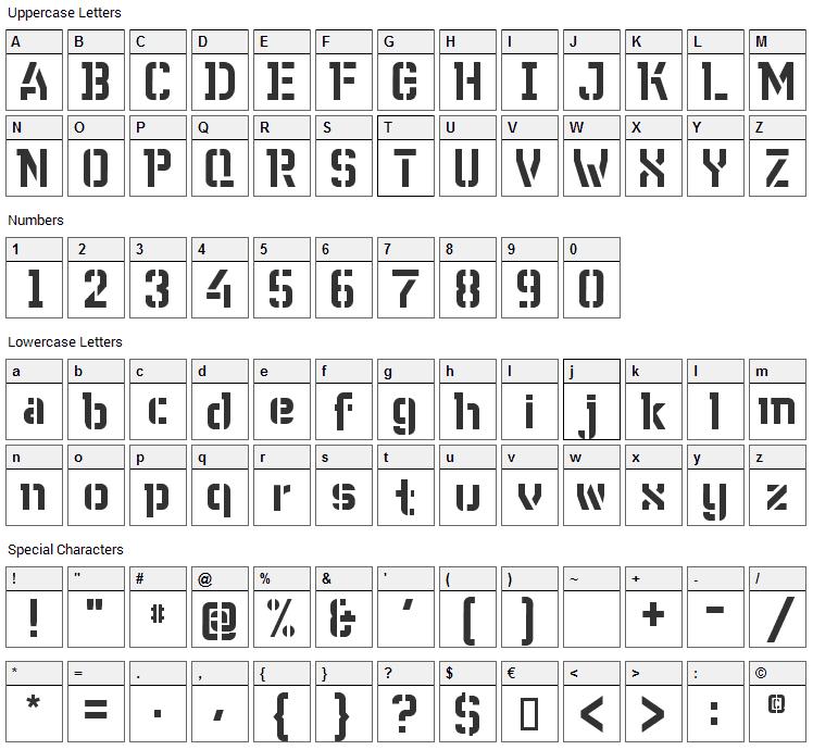WC Wunderbach Bta Font Character Map