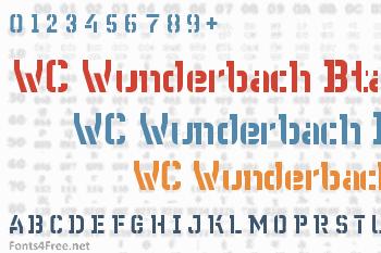 WC Wunderbach Bta Font