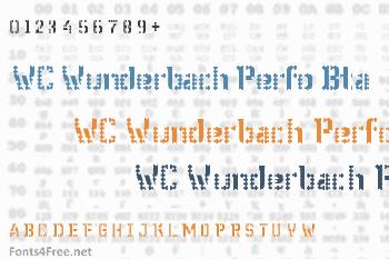 WC Wunderbach Perfo Bta Font