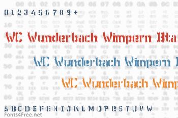WC Wunderbach Wimpern Bta Font