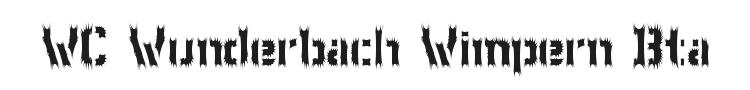 WC Wunderbach Wimpern Bta