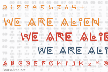 We are alien  Font