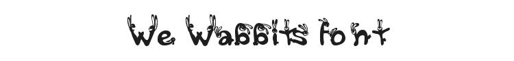 We Wabbits Font Preview