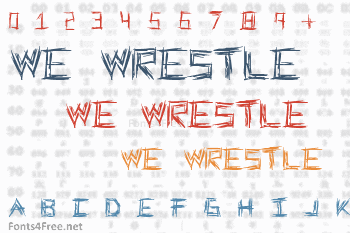We Wrestle Font