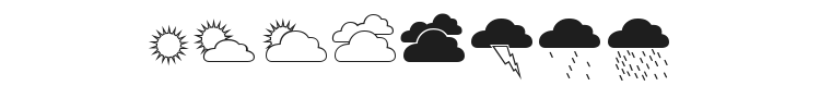 Weather Font Preview