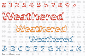 Weathered Font