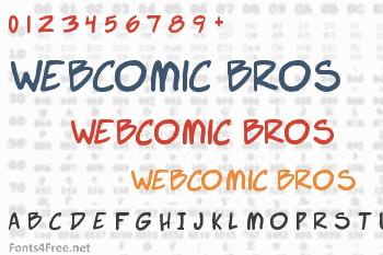 Webcomic Bros Font