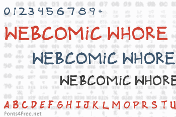 Webcomic Whore Font
