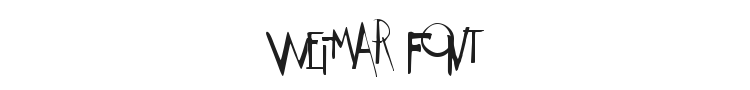Weimar Font Preview