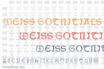 Weiss Gotnitials Font