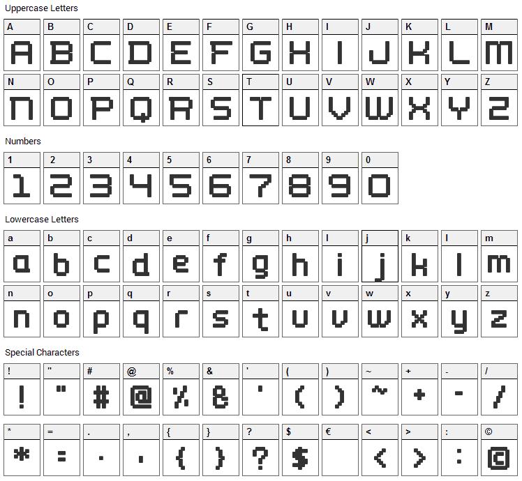 Wellbutrin Font Character Map