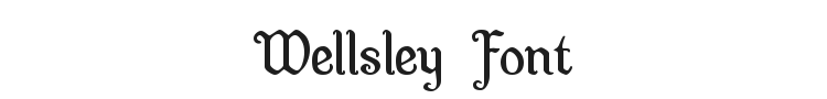 Wellsley Font Preview