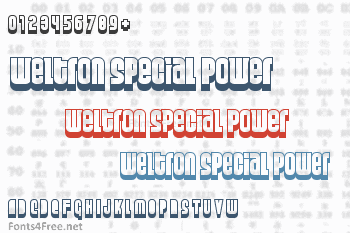 Weltron Special Power / 2001 Font