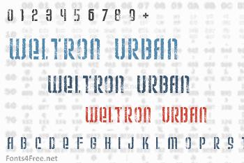 Weltron Urban Font