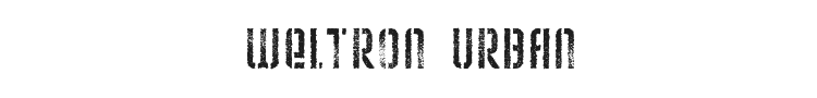 Weltron Urban Font Preview