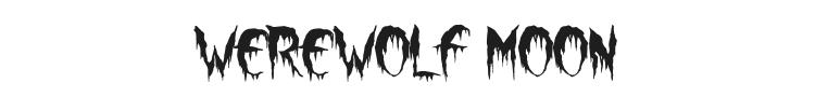 Werewolf Moon Font Preview