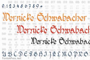 Wernicke Schwabacher Font