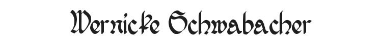 Wernicke Schwabacher Font Preview