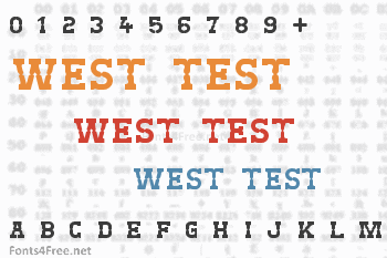 West Test Font