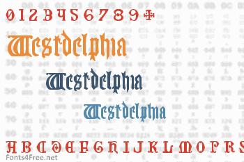 Westdelphia Font