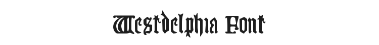 Westdelphia Font Preview