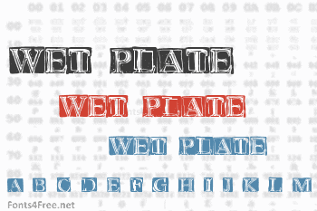 Wet Plate Font