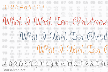 What I Want For Christmas Font