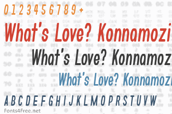 What's Love? Konnamozi Font