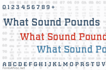 What Sound Pounds Font