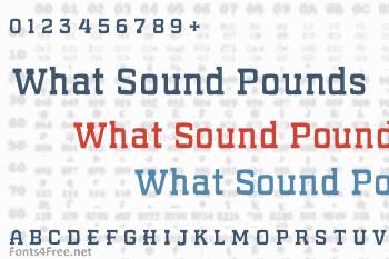 What Sound Pounds Font