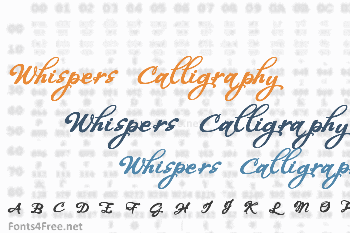 Whispers Calligraphy Font