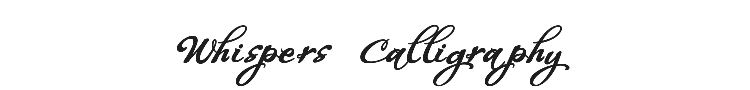 Whispers Calligraphy Font Preview