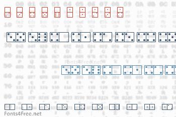 White Dominoes Font