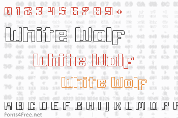 White Wolf Font