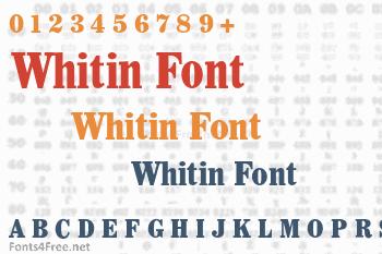 Whitin Font