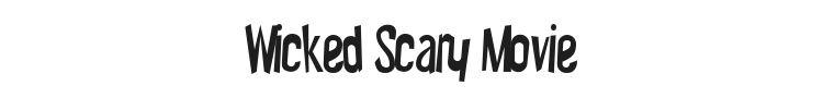 Wicked Scary Movie Font Preview